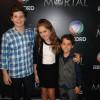 Elenco infantil de Pecado Mortal curte festa de lançamento da novela no Rio