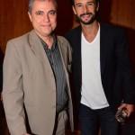 Paulo Fernando com o ator Rodrigo Santoro