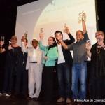 Premiados com a homenageada da noite Fernanda Montenegro