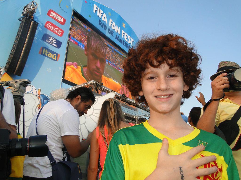 Luigi Montez na Arena Fifa Fan Fest em Copacabana
