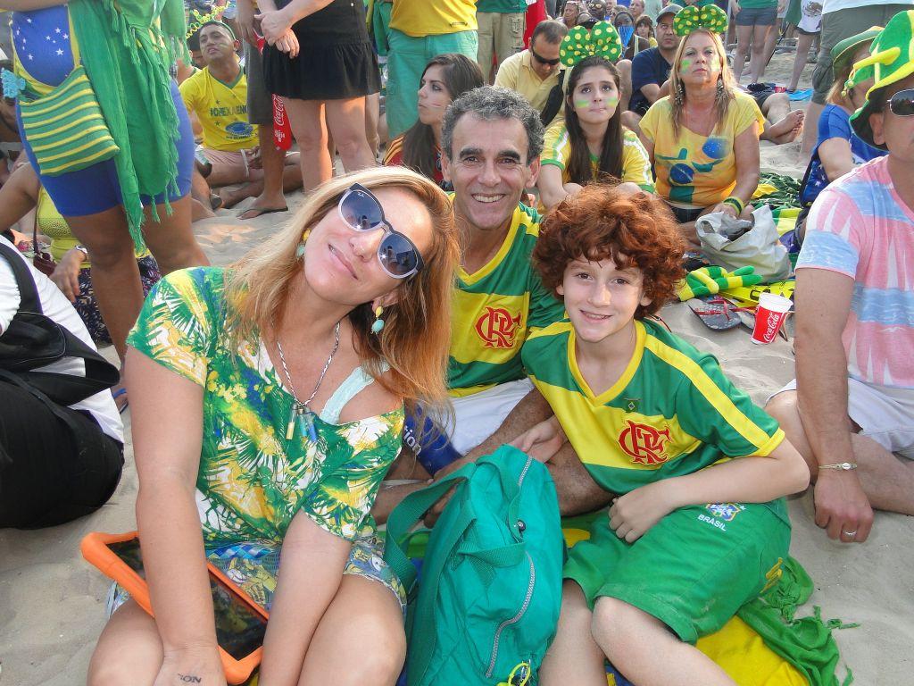 Luigi com seus pais, Andrea e Tadeu
