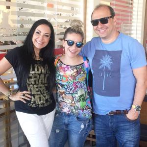 Cristina Mel, Priscilla Alcântara e Maurício Soares, Diretor da Sony Music.