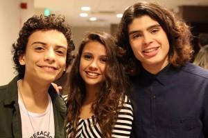 Miguel Costa, Mariana Lewis e Gabriel Felipe